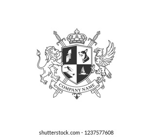 Coat of arms design vector
