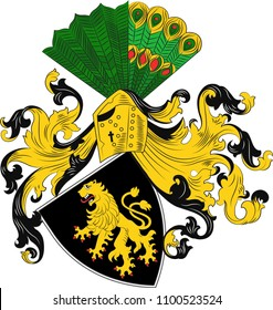 Coat of arms of Gera is the third-largest city in Thuringia, Germany. Vector illustration