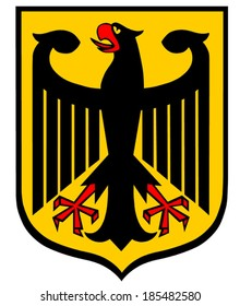Coat of Arms of Germany. The Coat of Arms of Germany features a black eagle called the Bundesadler which translates as �Federal Eagle�