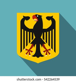 Coat of arms of Germany icon. Flat illustration of coat of arms of Germany vector icon for web isolated on baby blue background
