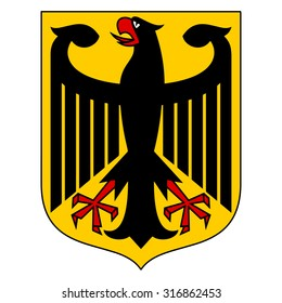 Coat of arms of Germany symbol. Vector of the Bundesadler or Federal Eagle, formerly the Reichsadler or Imperial Eagle.
