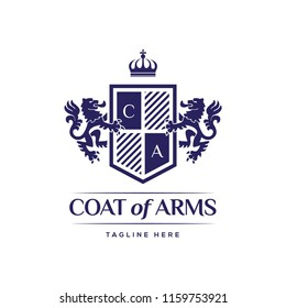 Coat Of Arms Heraldic Luxury Logo Design Concept