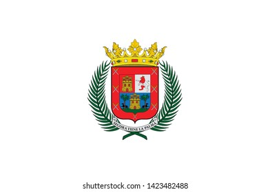 Coat of arms of Las Palmas de Gran Canaria is a city and capital of Gran Canaria island, in the Canary Islands, on the Atlantic Ocean. Vector illustration