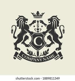 Coat of Arms, Lion Crest design