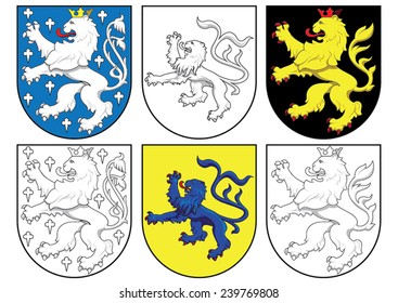 coat of arms - lions