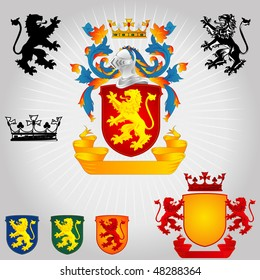 Coat of Arms - Lions and Crown