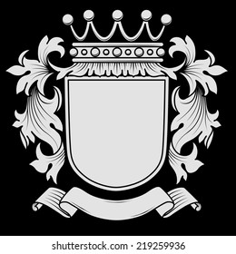 Coat of Arms with Mantling - Elements are on separate layers for easy editing.  Colors can be changed easily.