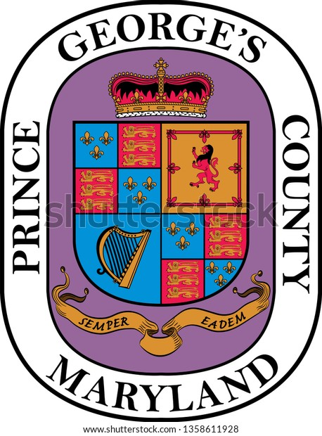 Coat Arms Prince Georges County County Stock Vector (Royalty