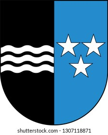 Coat of arms of Republic and Canton of Aargau is one of the more northerly cantons of Switzerland. Vector illustration