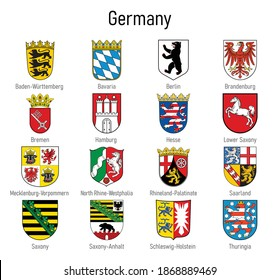 Coat of arms of the states of Germany, All German regions emblem collection