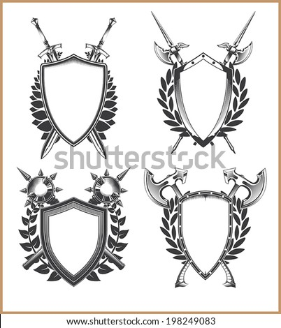 coat arms template stock vector royalty free 198249083 shutterstock