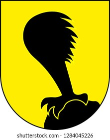 Coat of arms of Villach is the seventh-largest city in Austria and the second-largest in the federal state of Carinthia. Vector illustration