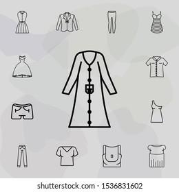 Coat clothes woman dress icon. Universal set of clothes for website design and development, app development
