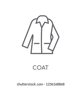 Coat linear icon. Modern outline Coat logo concept on white background from Clothes collection. Suitable for use on web apps, mobile apps and print media.