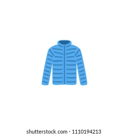 Coat raincoat wear vector illustration simple flat icon symbol emoji emoticon