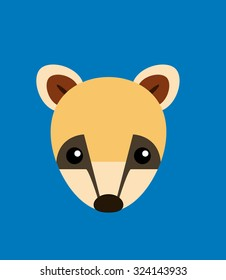Coati Head Animal Vector