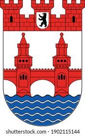 Coats of arms of the Berliner borough (bezirke) of Friedrichshain-Kreuzberg
