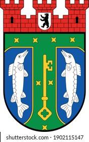 Coats of arms of the Berliner borough (bezirke) of Treptow-Köpenick