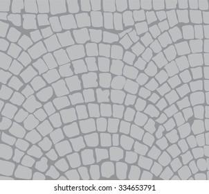 cobbles, area. Vector illustration