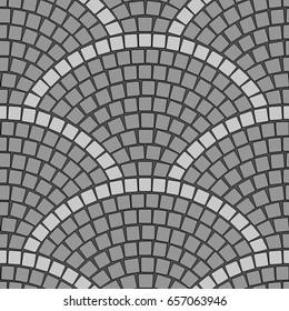 Cobblestone Pavement Seamless vector pattern