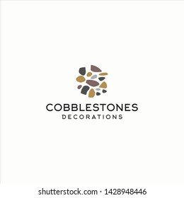 cobblestones logo icon illustration vector graphic download