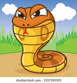 Cobra cartoon, animal cartoon, cartoon cute