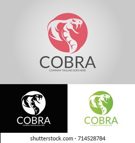 Cobra logo. Three versions. Easy to change size, color and text.