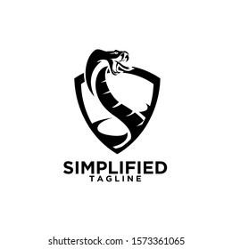 cobra snake shield logo icon design vector illustration