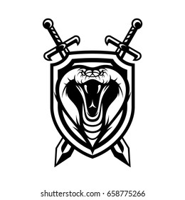 cobra snake wild animal head mascot vector illustration logo