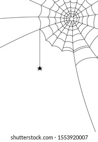 Cobweb for Halloween design, isolated on white background. Vector illustration.