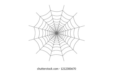 Cobweb on white background vector eps10