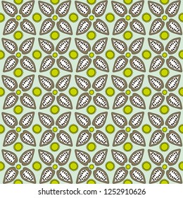 Cocao Bean Seamless Pattern