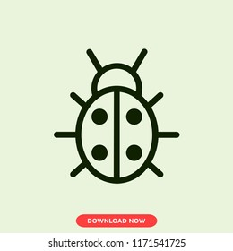 Coccinellidae Nature modern vector style. Coccinellidae icon concept. Coccinellidae icon for web and app.