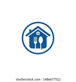 cochleare fork home vector logo food