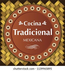 Cocina Tradicional Mexicana (Mexican Traditional Food in spanish) Clay Plate Composition – Copy Space