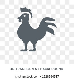 Cock icon. Trendy flat vector Cock icon on transparent background from animals  collection. High quality filled Cock symbol use for web and mobile