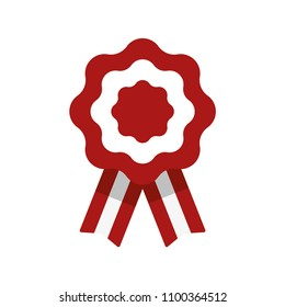 Cockade, rosette with ribbon, vector illustration, flag of Peru