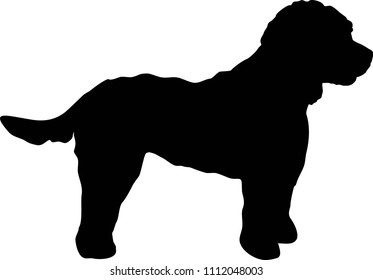 Cockapoo silhouette real in black