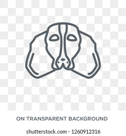 Cocker Spaniel dog icon. Trendy flat vector Cocker Spaniel dog icon on transparent background from dogs collection. High quality filled Cocker Spaniel dog symbol use for web and mobile
