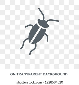 Cockroach icon. Trendy flat vector Cockroach icon on transparent background from animals  collection.