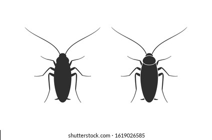 Cockroach logo. Isolated cockroach on white background