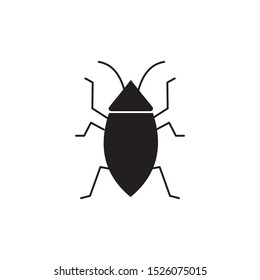 Cockroach vector icon illustration sign