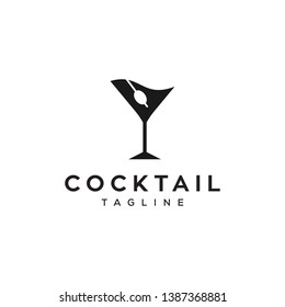 cocktail concept vector logo design
