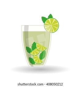 cocktail design over white background, vector illustration