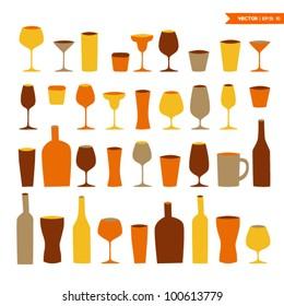 Cocktail glass set