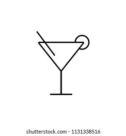 cocktail glass simple line icon