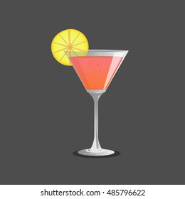 cocktail  glass and cocktail  , Vector