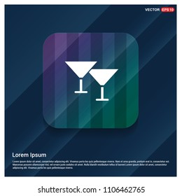 Cocktail glasses icon