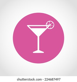 Cocktail Icon Isolated on White Background
