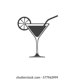 Cocktail icon placed on white
